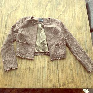 Classic tweed style crop jacket